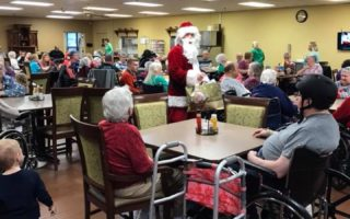 resident activity christmas santa