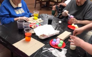 resident activity easter dying eggs