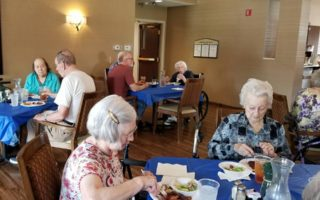 resident dining party