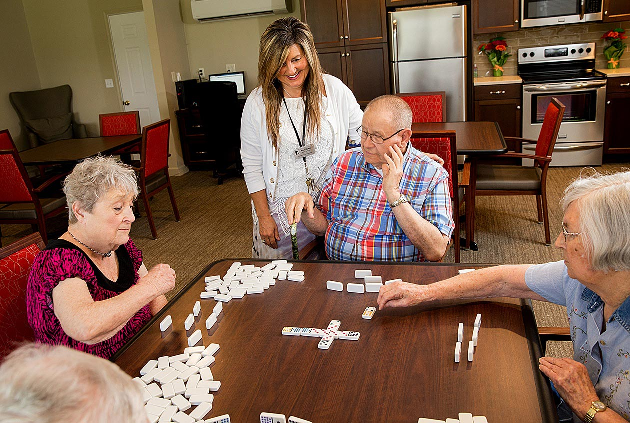 resident activity dominoes